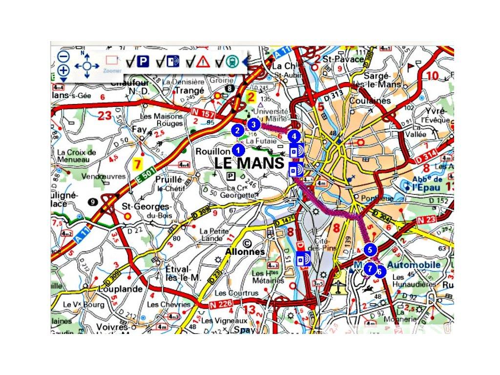 Plan d'accès · location maison pour 24 Heures du Mans